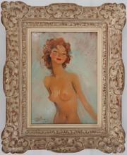 Jean Gabriel DOMERGUE - Peinture - Smiling model