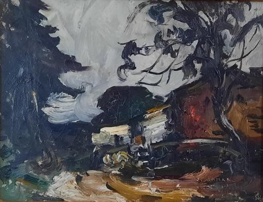 Armand G. G. JAMAR - Peinture - Ferme ardennaise