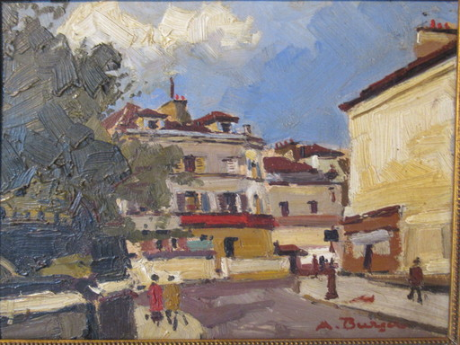Anton BURGER - Painting - Faubourg parisien