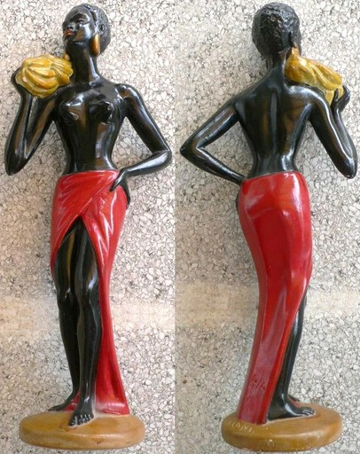"Salvatore MELANI - Sculpture-Volume - ""La porteuse de bananes"""