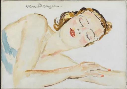 Kees VAN DONGEN - Peinture - Dreaming of love
