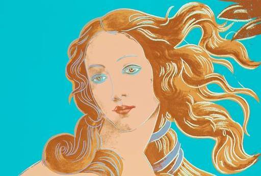 Andy WARHOL - Grabado - Details of Renaissance Paintings Birth of Venus