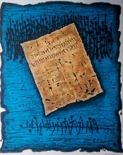 Moshé Elazar CASTEL - Grabado - Scrolls