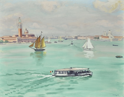 Albert MARQUET - Painting - Le Vaporetto