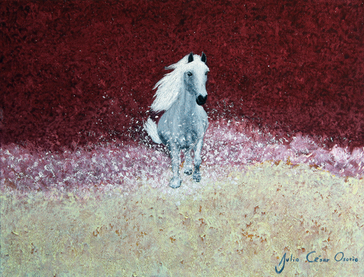 Julio César OSORIO - Painting - Free Spirit Gallop    (Cat N° 6110)