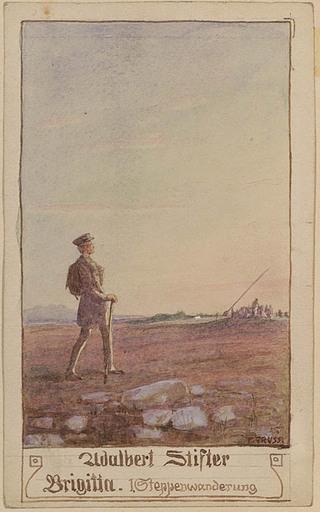"Franz GRUSS - Drawing-Watercolor - Illustration to Adalbert Stifter's ""Brigitta"", 1920's"