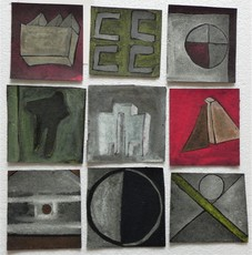 Ugo RONDINONE - Drawing-Watercolor - UNTITLED - 104 PARTS - 1985