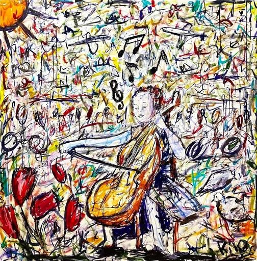 KIKO - Pintura - Contrebasse