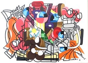Fabrice ANNEVILLE CONSTANCE - Pintura - Balade à cheval