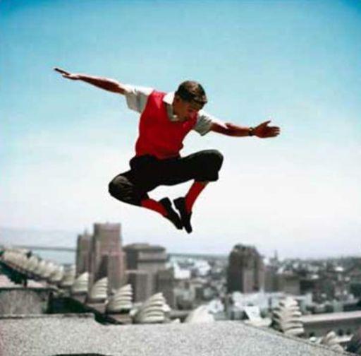 Frank WORTH - Print-Multiple - Sammy Davis Jr in mid-air