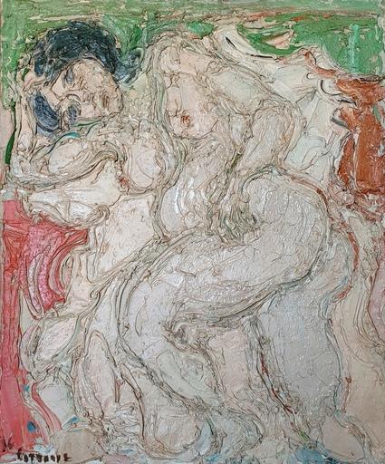 André COTTAVOZ - Pintura - Nu couché
