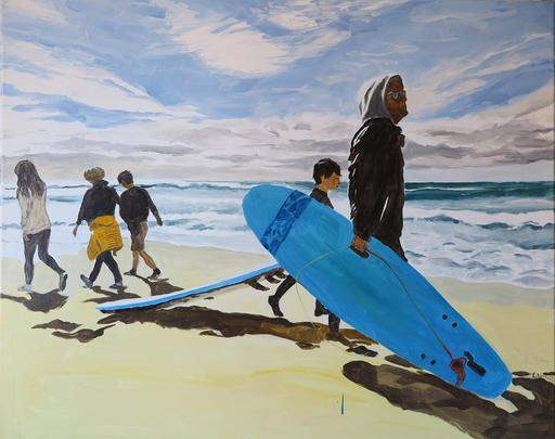 Karine BARTOLI - Painting - Surfers