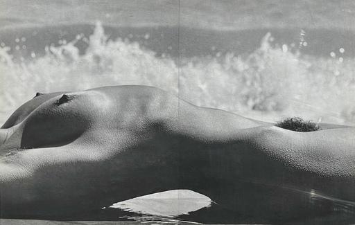 Lucien CLERGUE - Photo - Nu de la mer camargue