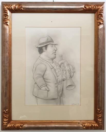 Fernando BOTERO - Disegno Acquarello - Untitled