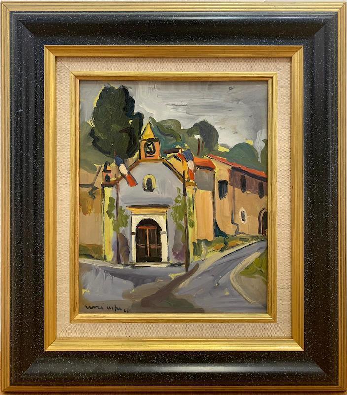 Renée ASPE - Peinture - Le village