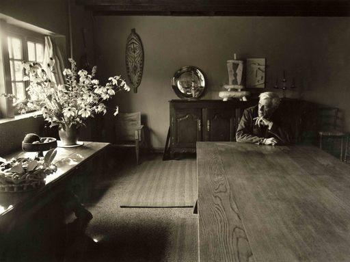 Robert DOISNEAU - Photo - Braque à Varengeville
