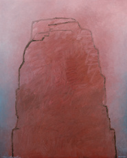 Stefan LAUSCH - Gemälde - Roter Berg