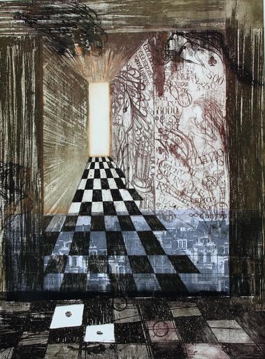 Christiane FRENAY - Estampe-Multiple - GRAFFITI PREOCCUPATION
