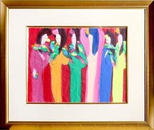TING Walasse - Drawing-Watercolor - Six Geishas