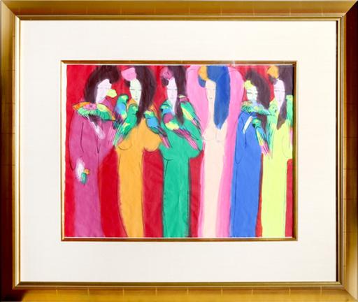 TING Walasse - Disegno Acquarello - Six Geishas