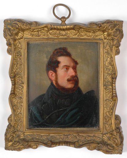 "Carl SPITZWEG - Peinture - ""Portrait of a Gentleman"" important early oil miniature"