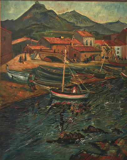 Abraham MINTCHINE - Painting - Port