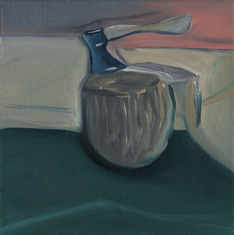 Martin AITKEN - Painting - « Study of an axe »
