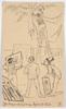 "Ludwig Hans FISCHER - Dibujo Acuarela - ""Three sketches"" 1886-1991"