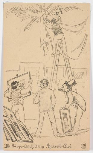 """Ludwig Hans FISCHER - 水彩作品 - """"Three sketches"""" 1886-1991"""
