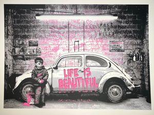 MR BRAINWASH - 版画 - beetle, pink