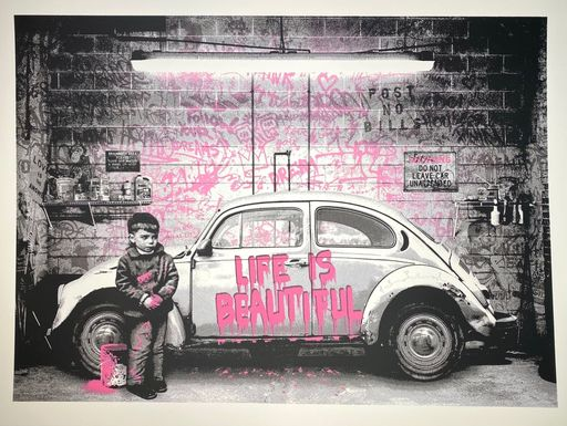 MR BRAINWASH - Druckgrafik-Multiple - beetle, pink