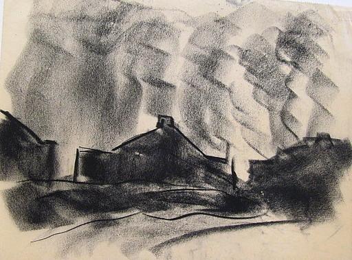 Friedrich EINHOFF - Drawing-Watercolor - #20009: Industrie.