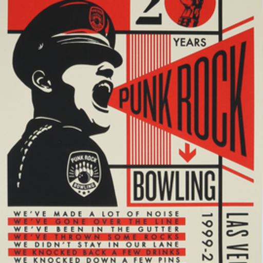 Shepard FAIREY - Druckgrafik-Multiple - Punk rock bowling
