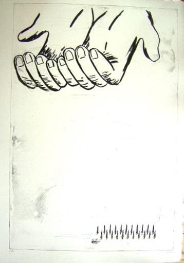 Enzo CUCCHI - Grabado - Les mains