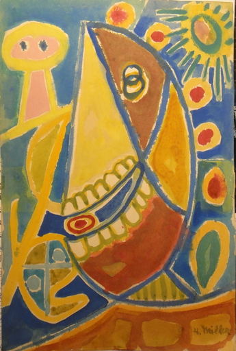 Henry MILLER - Drawing-Watercolor - Henry malt PICASSO