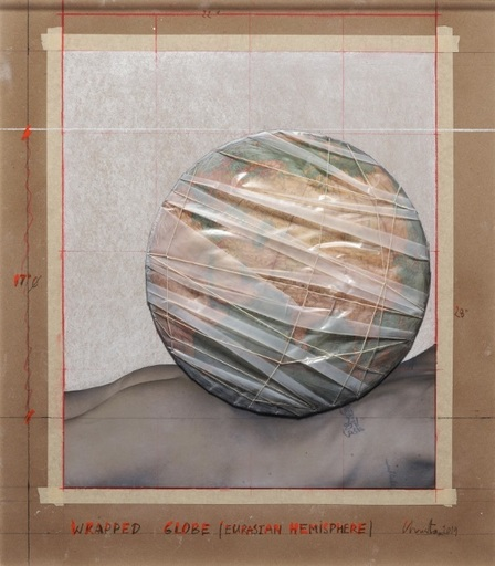 CHRISTO - Estampe-Multiple - Wrapped Globe (Eurasian Hemisphere)
