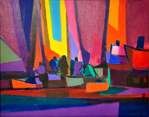 Marcel MOULY - Gemälde - Les Marins