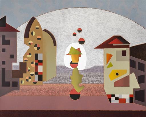 Enrique Rodriguez GUZPENA - Painting - Levitación Vadiniense