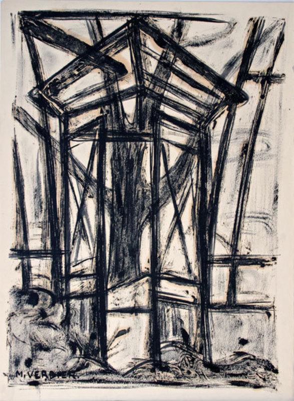 Maurice VERDIER - Disegno Acquarello