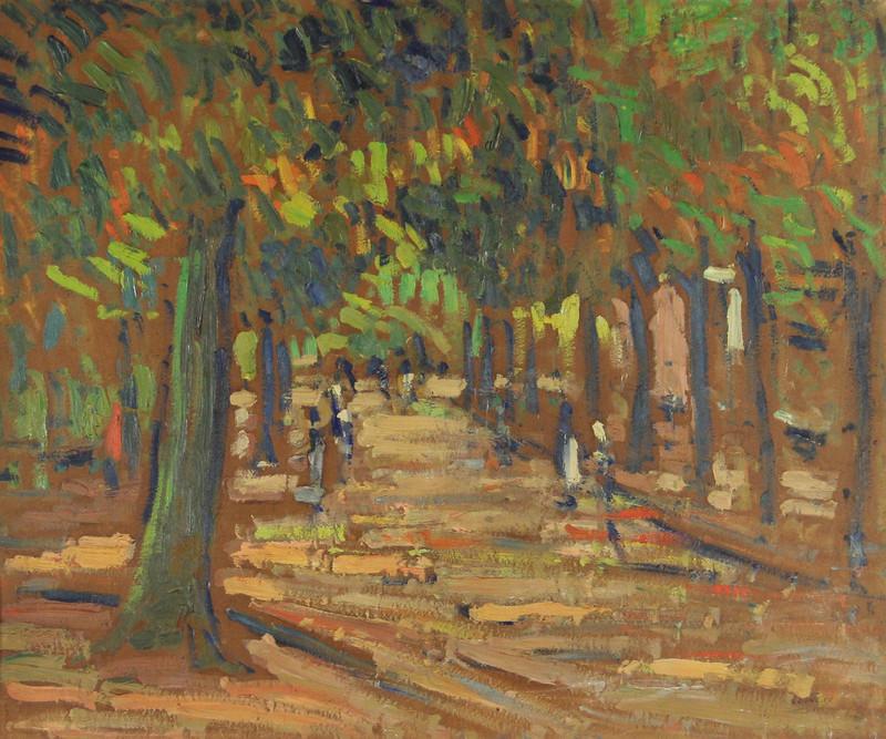 Maurice LOUVRIER - Pintura - Rouen, le boulevard Gambetta