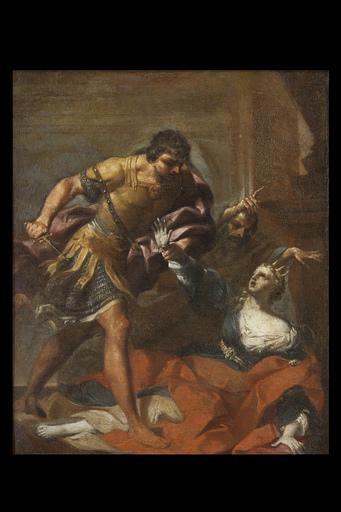 Giovan Gioseffo DAL SOLE - Painting - Pirro kills Polissena