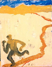 Jorge CABEZAS - Painting - el corredor