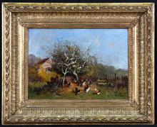 Eugène GALIEN-LALOUE - Painting - La campagne au Printemps