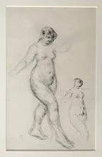 Pierre-Auguste RENOIR - Dessin-Aquarelle - Etude de Nus