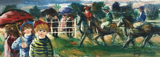 Nino GIUFFRIDA - Pintura - Aux courses