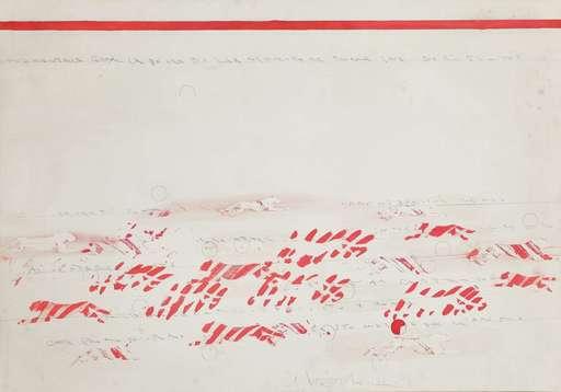 Alighiero BOETTI - Drawing-Watercolor - Senza titolo (Pantere)