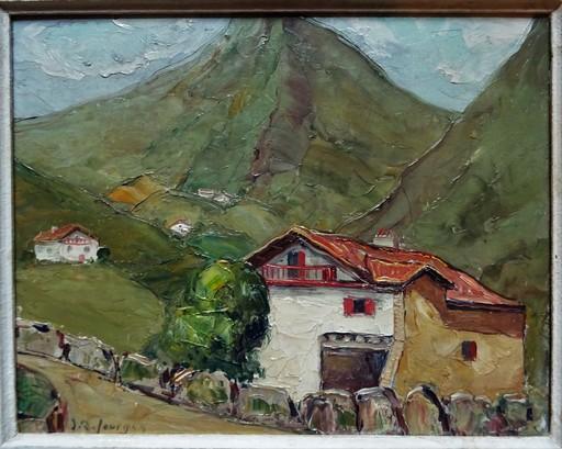 Jean Roger SOURGEN - Painting - Village de Sare au Pays-Basque