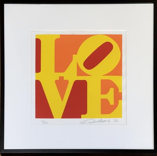 Robert INDIANA - Print-Multiple - LOVE - Yellow, Orange,  Red, 1996