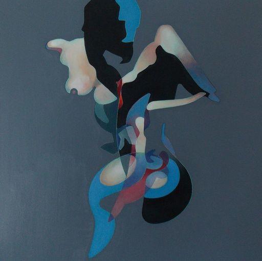 Milburn FOSTER - Painting - Portrait of Linda
