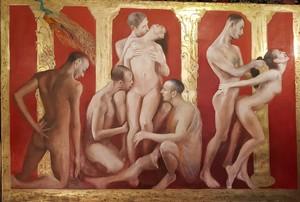 Bella MATVEEVA - Painting - Coronation of Poppea / The Coronation of Poppea series